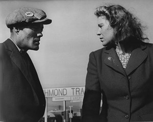 Argument in a Trailer Camp, Richmond, California by Dorothea Lange contemporary artwork