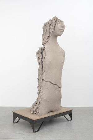 Unfired Clay Torso by Mark Manders contemporary artwork