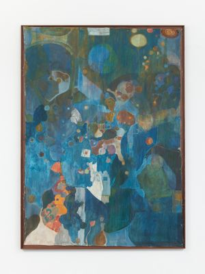 Gas Panic (Blue) by Justin Caguiat contemporary artwork