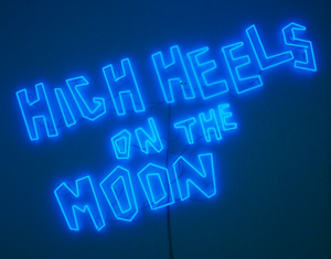 High Heels on the Moon by Sylvie Fleury contemporary artwork
