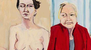 Contemporary art exhibition, Chantal Joffe, Story at Victoria Miro, Mayfair, London