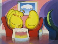 Work Bananas and Pregnant Pears by Wang Xingwei contemporary artwork painting