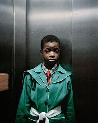 Lift Portrait 8, Ponte City, Johannesburg (0338) by Mikhael Subotzky and Patrick Waterhouse contemporary artwork photography