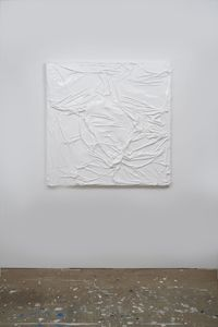 Untitled (White on White #7) by Huseyin Sami contemporary artwork works on paper, sculpture