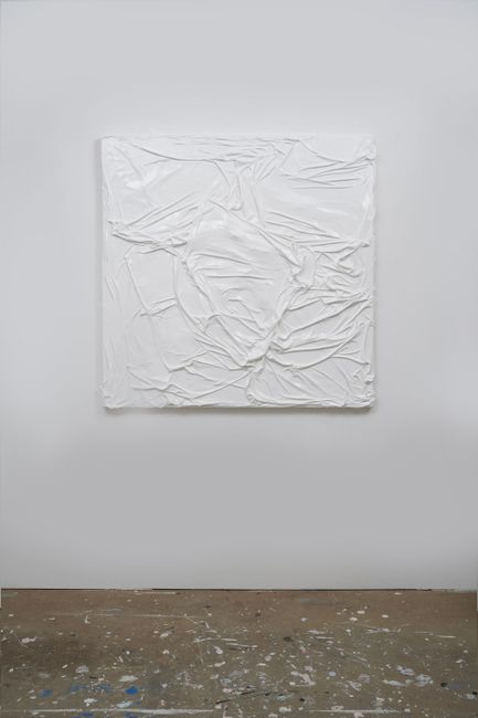 Untitled (White on White #7) by Huseyin Sami contemporary artwork