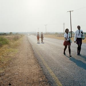 Road divide Gauteng and Northwest province, Hamaskraal, former Bophuthatswana by Thabiso Sekgala contemporary artwork