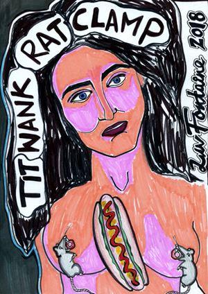 TIT WANK RAT CLAMP LIV FONTAINE by Liv Fontaine contemporary artwork