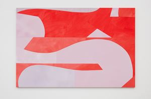 Reclining Red and Lilac by Sarah Crowner contemporary artwork