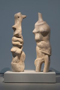 Two Standing Figures by Henry Moore contemporary artwork sculpture