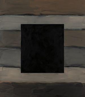 Black Window Grey Land by Sean Scully contemporary artwork