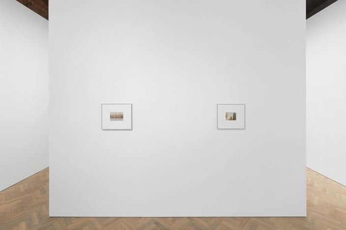 Exhibition view: Luigi Ghirri, Colazione sull'Erba, Thomas Dane Gallery, London (2 October–16 November 2019). © The Estate of Luigi Ghirri. Courtesy the artist, Matthew Marks Gallery, New York and Thomas Dane Gallery. Photo: Ben Westoby.