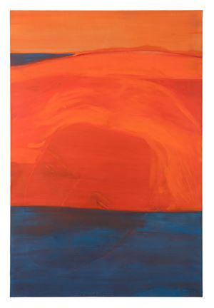 La mer noyant ton visage, un soleil orange dans ma mémoire by Christine Safa contemporary artwork