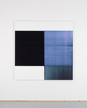 Exposed Painting Delft Blue / Violet by Callum Innes contemporary artwork
