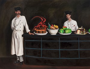 Two Servants by Qin Qi contemporary artwork