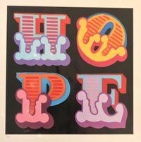 Hope by Ben Eine contemporary artwork print