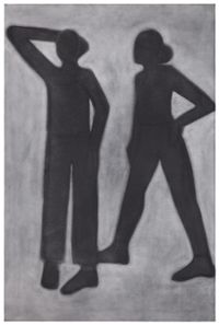 Two Figures by Silke Otto-Knapp contemporary artwork painting