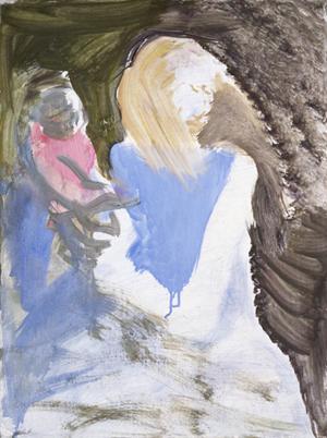 Madonna Mit Blauem Pullover by Siegfried Anzinger contemporary artwork