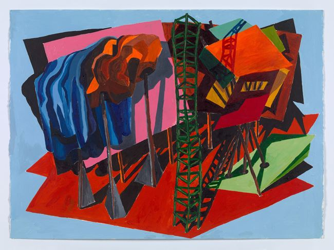 untitled: set 1; 2020 by Phyllida Barlow contemporary artwork