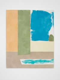 Light Orange, Green, Blue, Lemon, Mushroom, Turquoise by Peter Joseph contemporary artwork painting