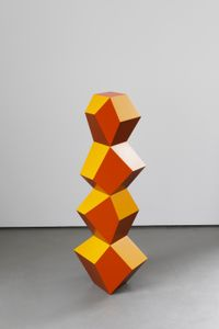 Four Form Stack: Golden Copper by Angela Bulloch contemporary artwork sculpture