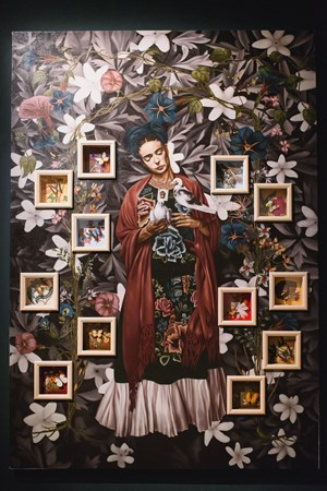 Ella Amo' Apasionadamente y Fue Correspondida (For She Loved Fiercely, and She is Well-Loved) by Geraldine Javier contemporary artwork