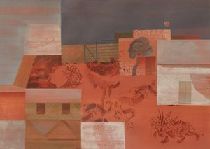 Blood on the road (4) by Nilima Sheikh contemporary artwork