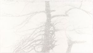 The Sacrifice Tree by Shi Jin-Hua contemporary artwork works on paper, drawing