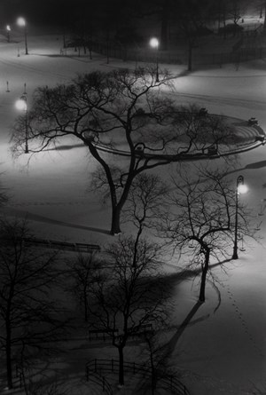 Washington Square at Night by André Kertész contemporary artwork