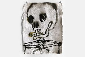 Untitled (Skull) by Chris Martin contemporary artwork