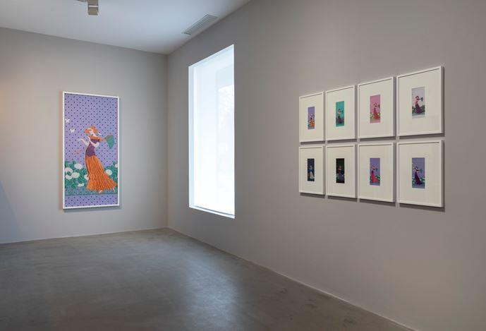 Exhibition view: Tobias Kaspar, Horn of Plenty, Galerie Urs Meile, Beijing (2 November–5 January 2020).Courtesy Galerie Urs Meile, Beijing-Lucerne.