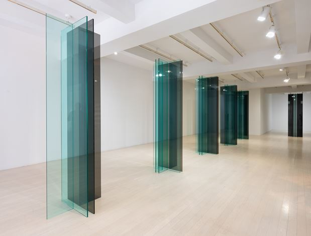 """Exhibition view: Robert Irwin, New """"SCULPTURE/CONFIGURATIONS,"""" Pace Gallery, 32 East 57th Street, New York (11 May–17 August 2018). © 2018 Robert Irwin/Artists Rights Society (ARS), New York. Courtesy Pace Gallery. Photo: Tom Barratt."""