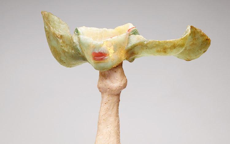 Alina Szapocznikow, Sculpture Lamp (Double Mouth on Phallus) (1967–1969) (detail). Coloured polyester, lightbulb and electrical wiring. 55 x 49 x 38 cm. Courtesy Richard Saltoun Gallery.