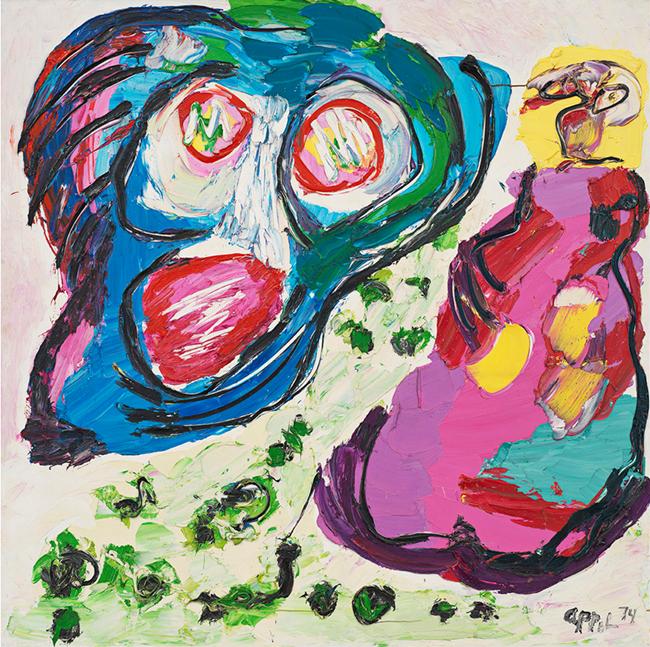 Flying Head by Karel Appel contemporary artwork