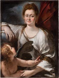 Allegorical Portrait of Flaminia (Orsola Posmoni Cecchini) as Venus by GIULIO CESARE PROCACCINI contemporary artwork painting, works on paper