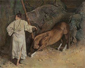 Taming a Horse 降馬圖 by Wei Dong contemporary artwork