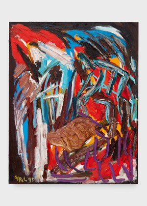 Out of Nature (Evening Glow) by Karel Appel contemporary artwork