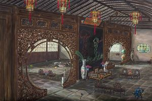 The Mandarine Duck Pavilion 鴛鴦廳 by Liu Dahong contemporary artwork