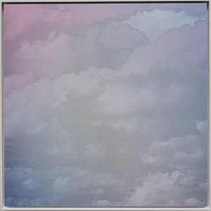 Unkai (A Sea of Clouds) Faint Pink Blue 4.4.1 by Miya Ando contemporary artwork