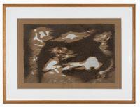 Spiegelung aus dem Wasser by Meret Oppenheim contemporary artwork drawing