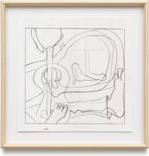 Untitled by Joe Bradley contemporary artwork works on paper, drawing