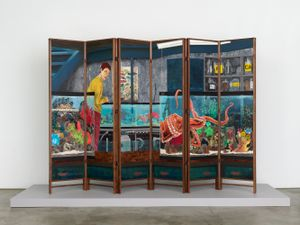 The Suspect by Hernan Bas contemporary artwork