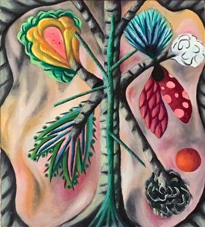 Falsche Blüten (Baumkunde) by Hartmut Neumann contemporary artwork