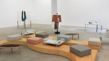 Contemporary art exhibition, Nairy Baghramian, Janette Laverrière, Work Desk for An Ambassador's Wife at Marian Goodman Gallery, New York, USA