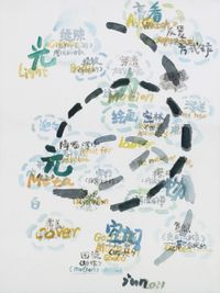 Sketch map No.3 by Wang Jun contemporary artwork painting, works on paper