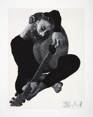 Guitarist by Lenz Geerk contemporary artwork painting
