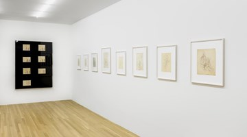 Contemporary art exhibition, Paul Bonet, Drawings for Bookbindings compiled by Florian Pumhösl at Galerie Buchholz, New York
