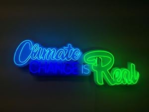 Climate Change is Real (Multiple) by Andrea Bowers contemporary artwork