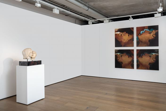 Exhibition view: Group Exhibition, No Man is an Island, Almine Rech, London (1–26 September 2020). Courtesy the Artist and Almine Rech. Photo: Melissa Castro Duarte.