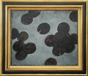 Waterlilies. Grey and Black by Timur D'Vatz contemporary artwork
