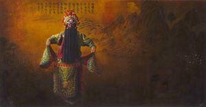 General Jiang Wei at Tielong Mountain by Mi Qiaoming contemporary artwork